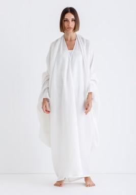 White Drape Maxi Kaftan