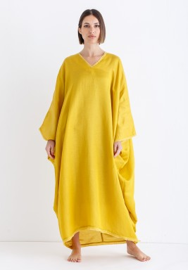 Lemon Oversized Midi Kaftan