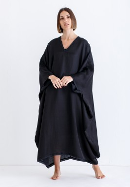 Black Oversized Midi Kaftan