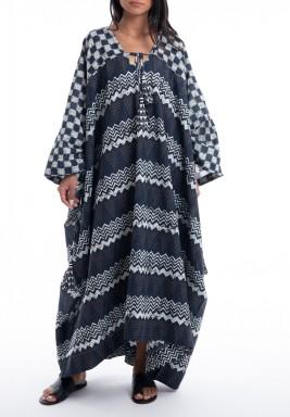 Black & White Printed Oversized Dress