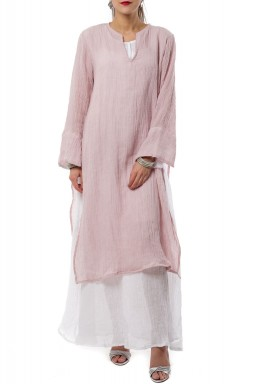 Pink double layered kaftan