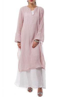 Pink double layered kaftan