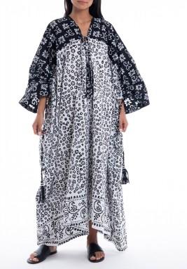 Black & White Floral Oversized Dress