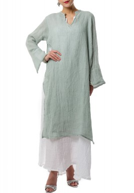Pestachio double layered kaftan