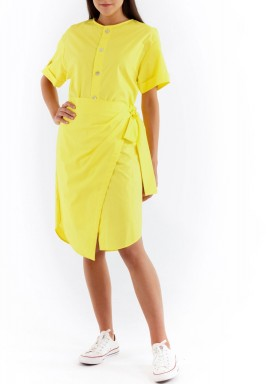 Wrapped Short dress yellow