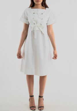 Cotton short sleeve dress