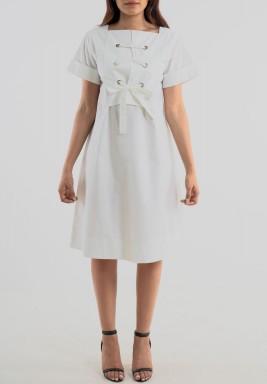 Cotton short sleeve dress
