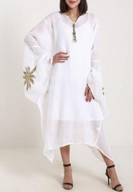 Gold Palm Dress