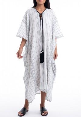 Zanzibar Black & White Striped Dress