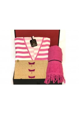Pink beach kaftan set
