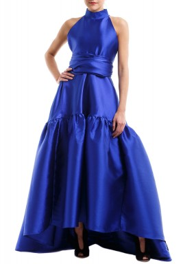 Blue Azur Puffed Gown