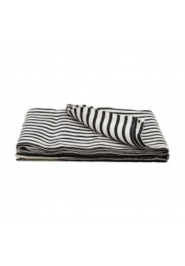 House Doctor Black/Grey Stripe Throw