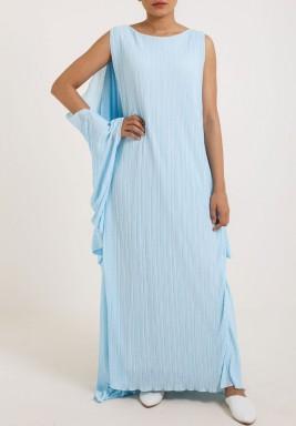 Oversized Back Kaftan Blue