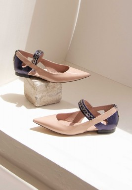 Leem Beige Pointed Toe Shoes