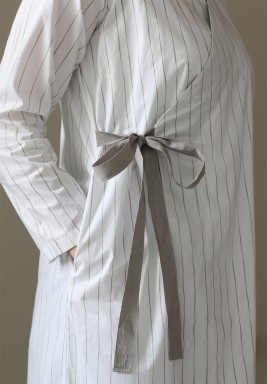 Three White & Grey Side Knot Jacket Co-Ord