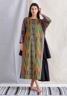 Multicolored Striped Kaftan