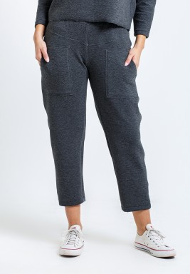 Grey Four Pockets Pants