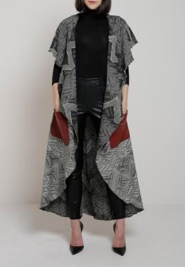 Flowy black&white vest