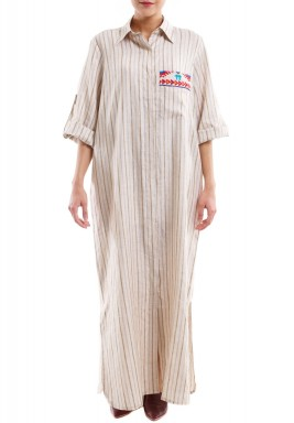 Eyes on me brown stripe kaftan