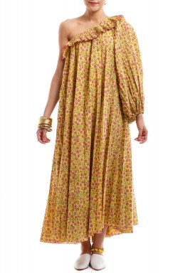 Yellow Fayouna Offshoulder Dress