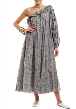 Green Fayouna Offshoulder Dress