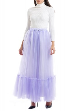Tulle purple skirt
