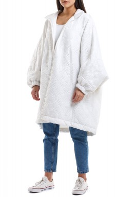 Oversized white jacket