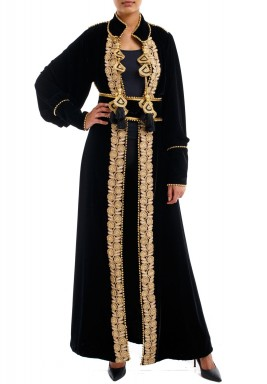 Couture kaftan black