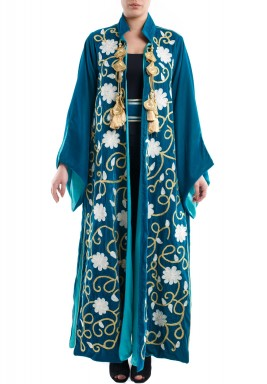 Velvet royal kaftan green
