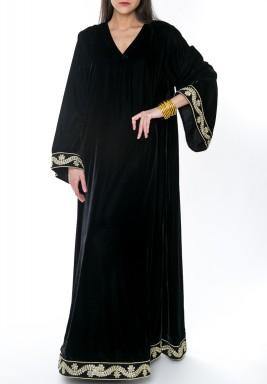 Velvet  Maxi Dress Black