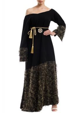 Black Zari Kaftan