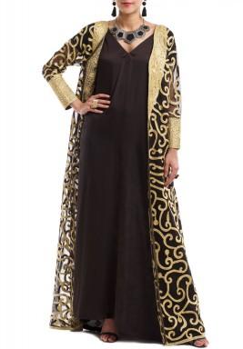 Toor vest tadreez with silk dress