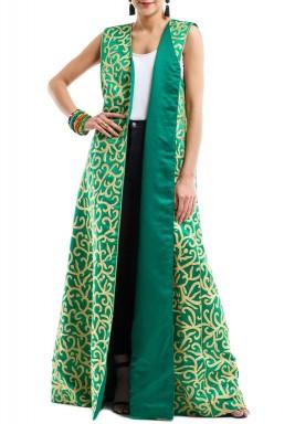 Morrocan kaftan vest green