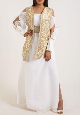 White  Off shoulder kaftan