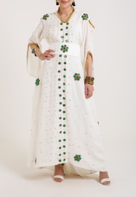 Green Crystal kaftan