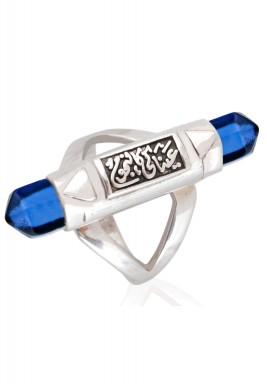 Blue comet ring