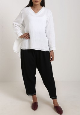 V neck Top and Pants set