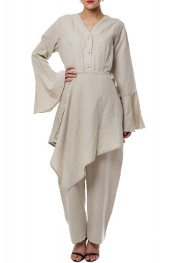 Sharwal jumpsuit Beige