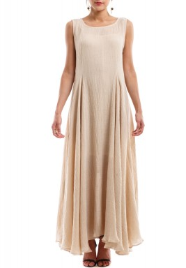 Sleeveless Dress Beige