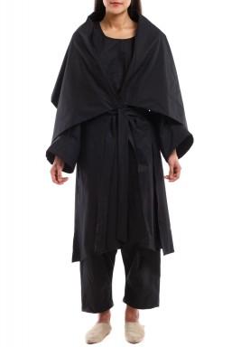 Black Jumpsuit with Cardigan
