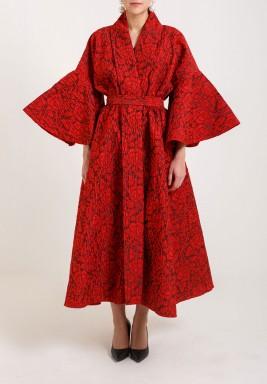 RED DRESS  COAT
