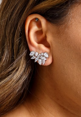 Silver-Tone Crystal Wonder Earrings