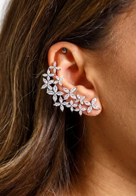 Silver-Tone Bold and Beautiful Ear Cuffs