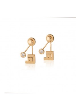 Haa Suspended Gold Earrings