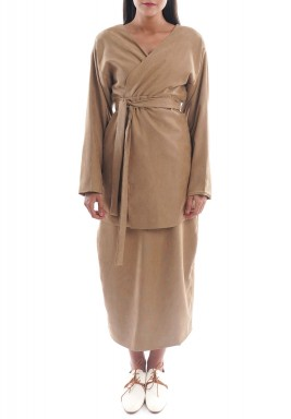 Lady Like Brown Skirt Set