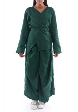 The Emerald Green Linen Set