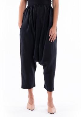 Black Midi Sherwal Pants