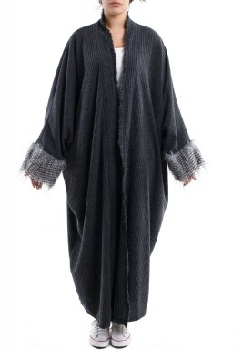 Feathery bisht  Grey