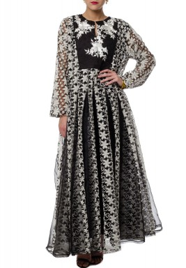 Flowers Lace Kaftan