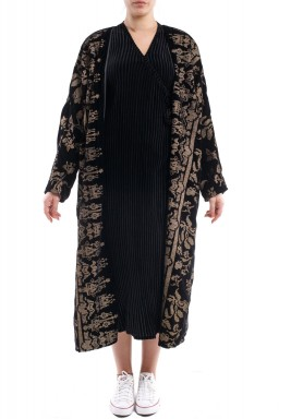 Golden leaves bisht black